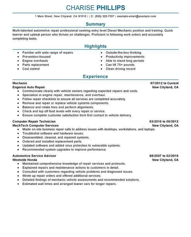 Download Aircraft Mechanic Resume   haadyaooverbayresort.com