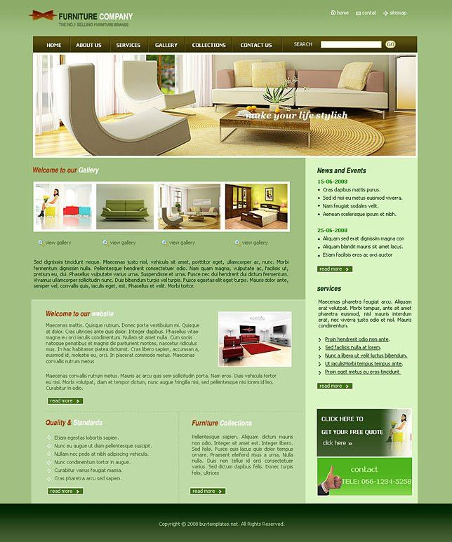 photo gallery template for furniture companies