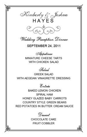 8 Best Images of Wedding Menu Templates Microsoft Word - Wedding ...