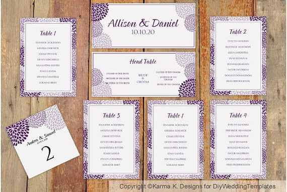Wedding Seating Chart Template - Download Instantly ...