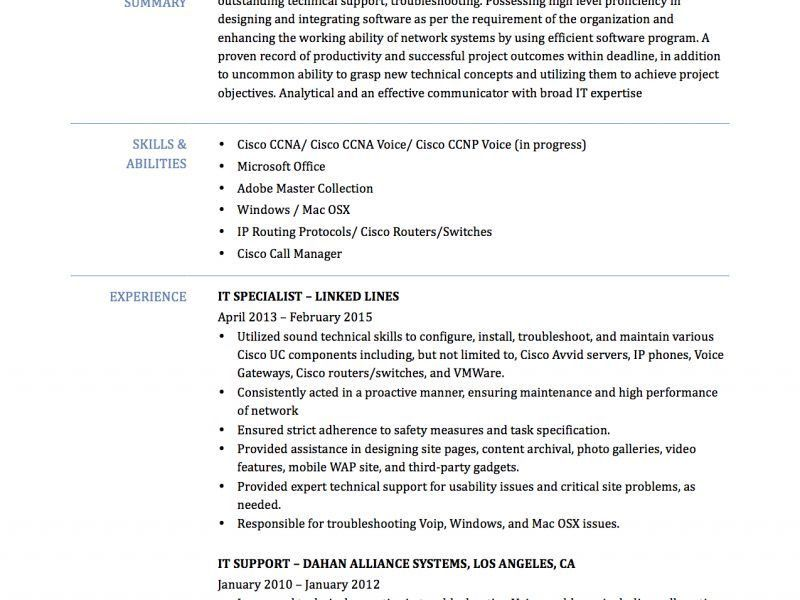 Ccna Resume Template. download cisco network engineer sample ...