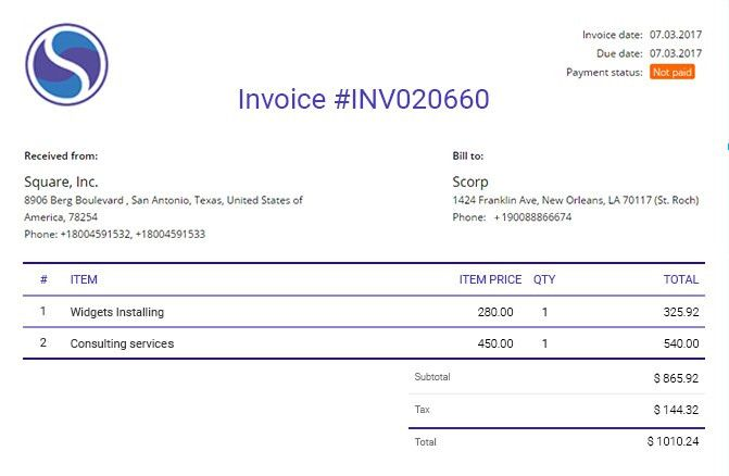 Flowlu Invoice - Online Invoicing Software