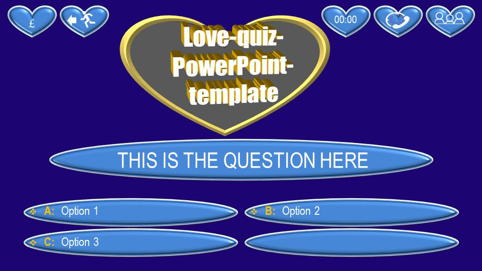 PowerPoint quiz template love | PPT Themes