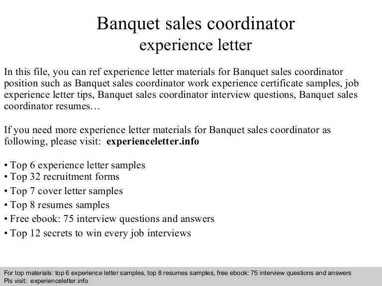 cover letter sales coordinator position