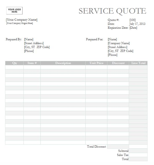 sales quote template
