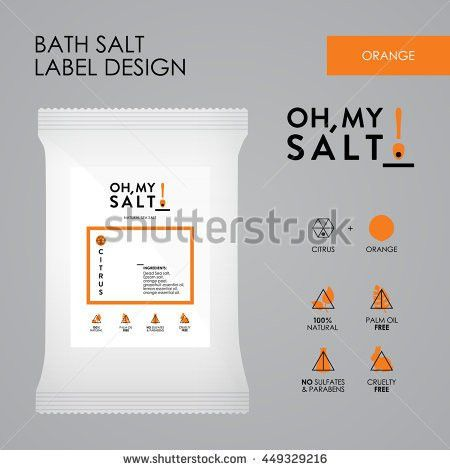 Bath Sea Salt Label Vector Design Stock Vector 449223184 ...