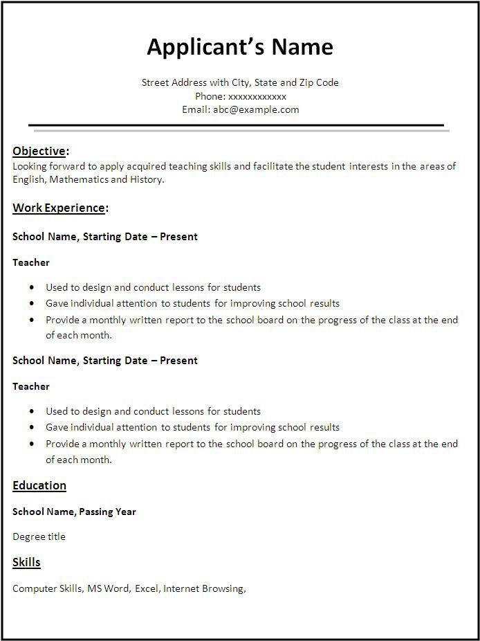 Downloadable Sample Resume | Free Resumes Tips