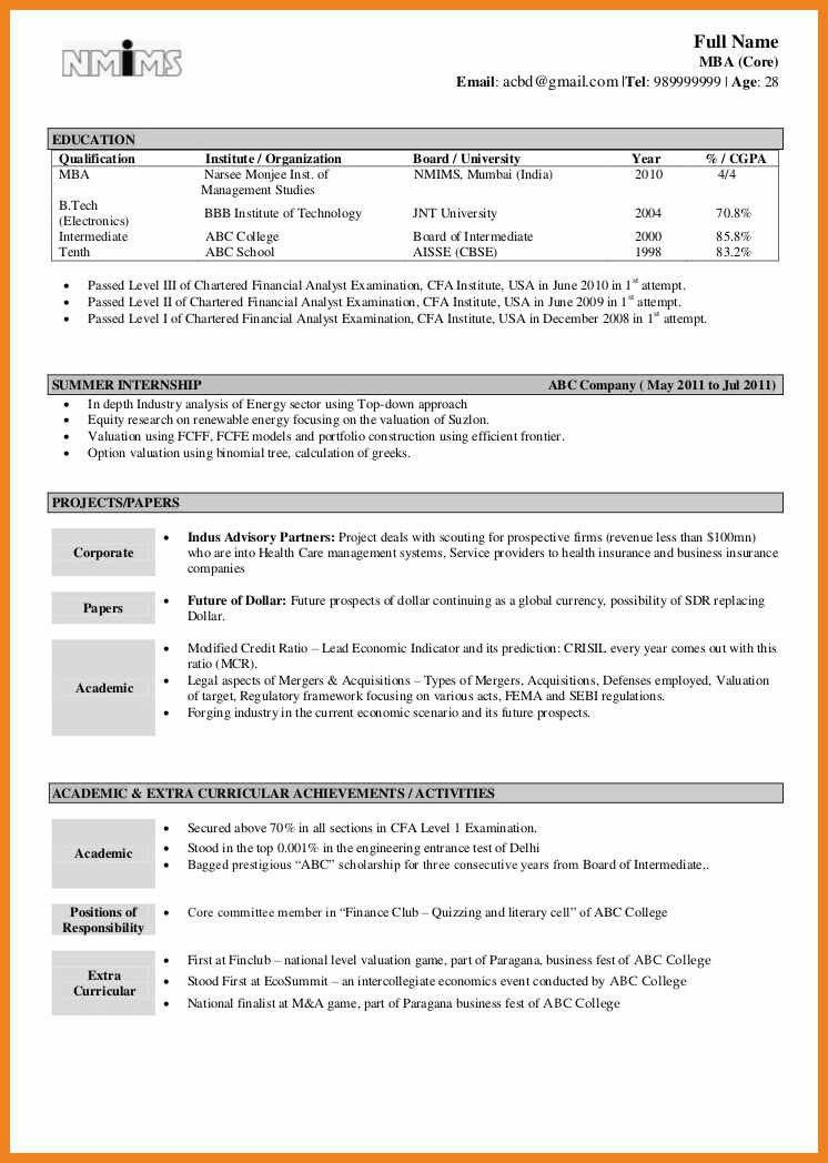 Image Result For Resume Format Free Download In Ms Word For ...