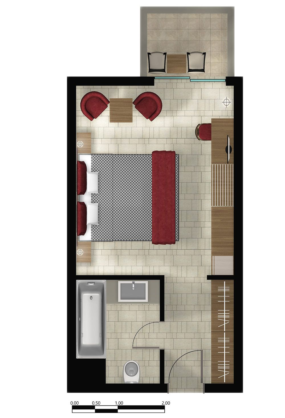 Typical w hotel guestroom plans google search for Apartment design guide sepp 65