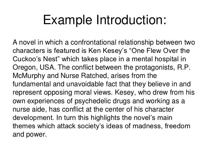 example of a good introduction for an essay