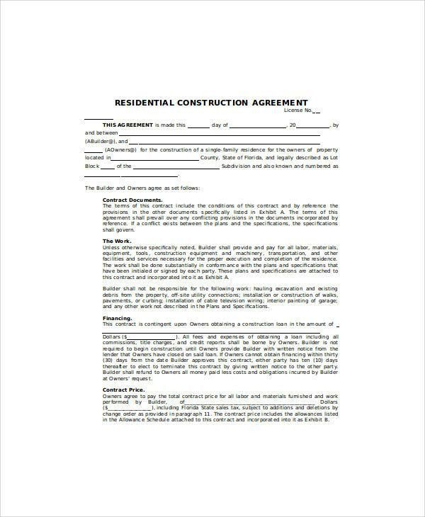Sample Contract Agreement - 30+ Examples in Word, PDF