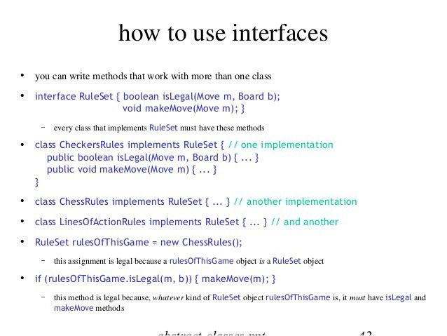 Java interfaces & abstract classes