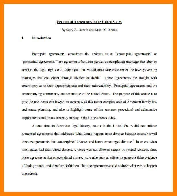 Sample Prenuptial Agreement Template. Examples-Of-Prenuptial ...