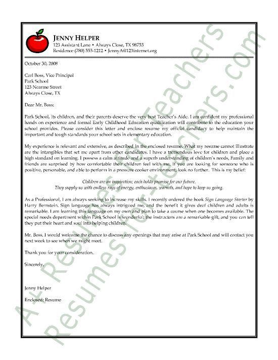 cover letter for special education teacher education cover letter