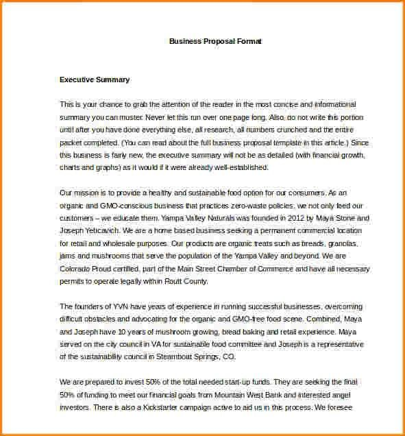 12+ Standard Business Proposal Format Example | receipts template