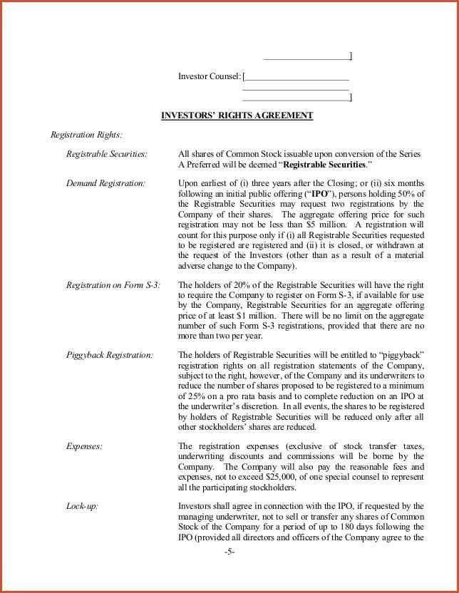 TERM SHEET EXAMPLE.Sample Term Sheet Form Template.png - proposal ...