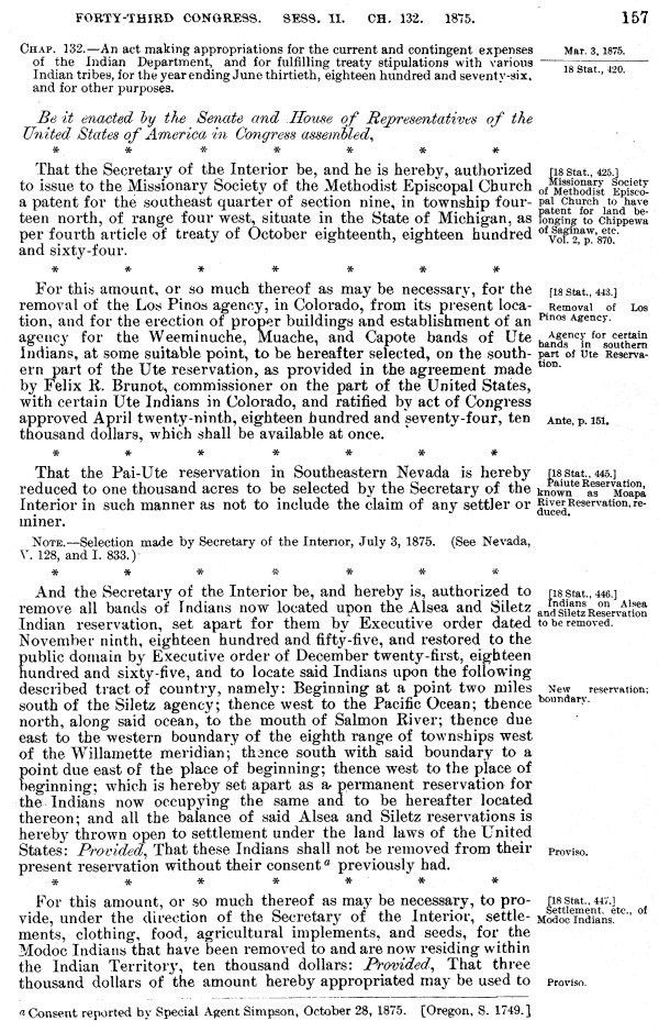 INDIAN AFFAIRS: LAWS AND TREATIES. Vol. 1, Laws