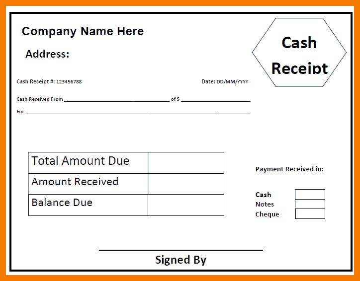 5+ receipt of money template | resume holder
