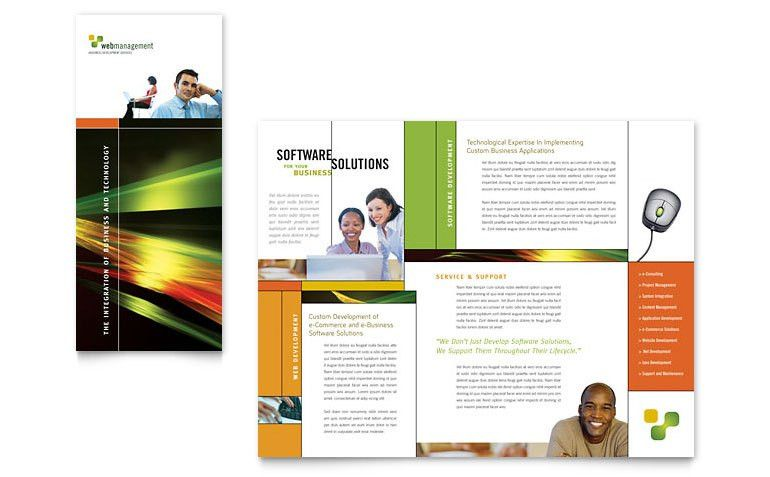 Internet Software Brochure Template Word & Publisher : Selimtd