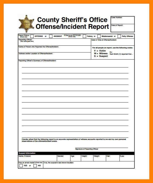 5+ police incident report template | daily log sheet