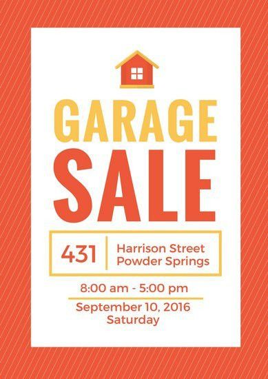 Yard Sale Flyer - Templates by Canva