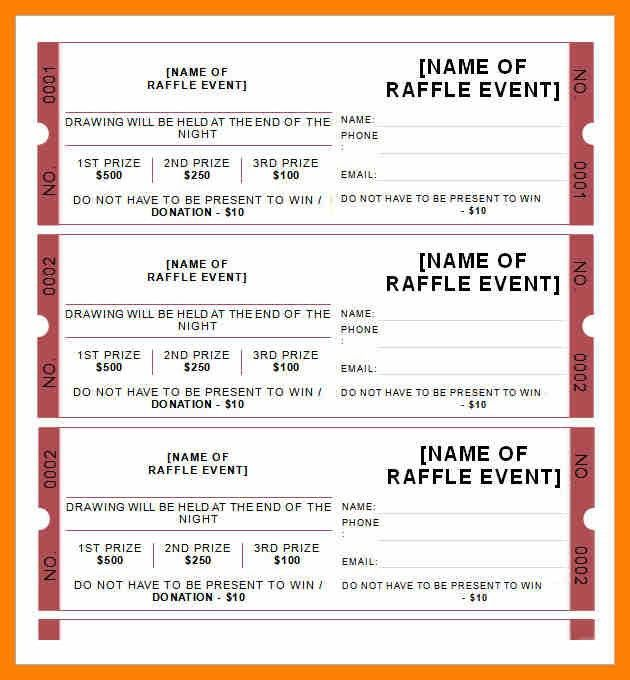 Raffle Sheet Template. Raffle Sheet Template Download Free Documents ...