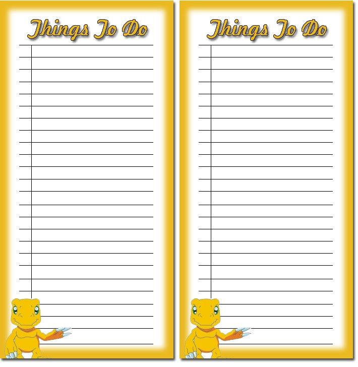 Free Children's to do list printables 3, download free to do list ...