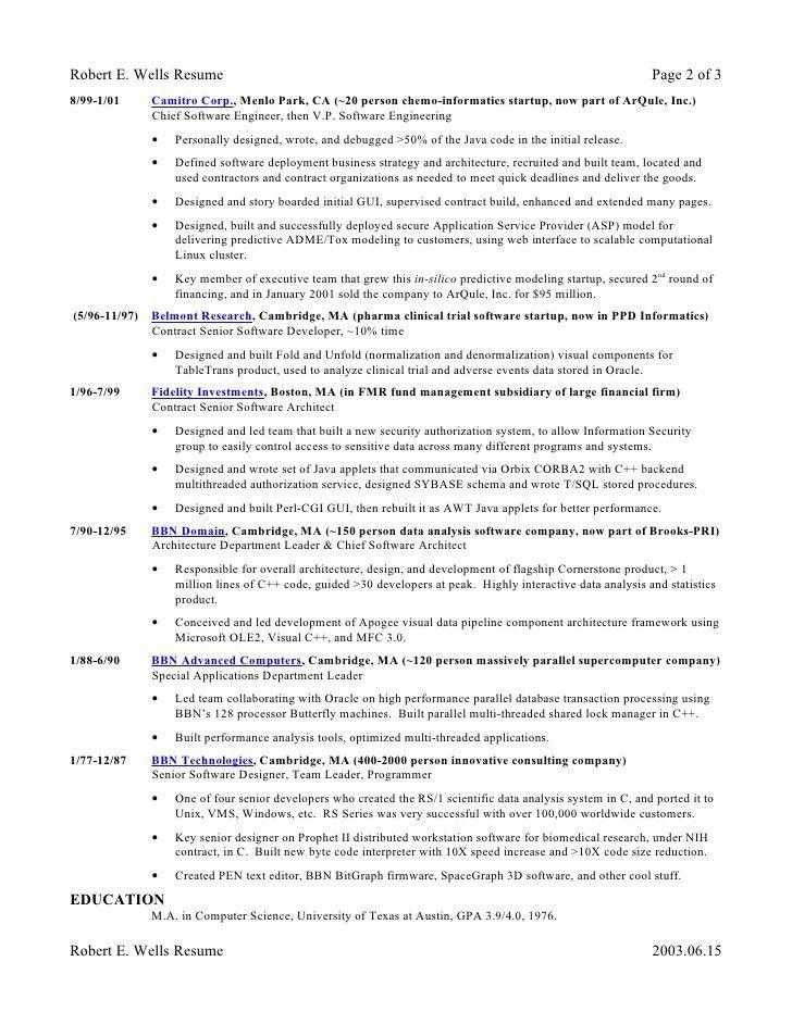 chief designer resume