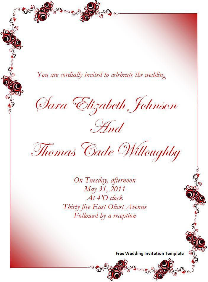 Microsoft Word Wedding Invitation Template - vertabox.Com