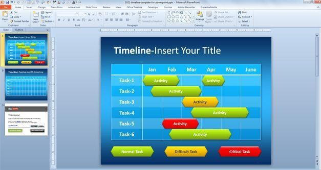 Free Simple Timeline Template for PowerPoint - Free PowerPoint ...