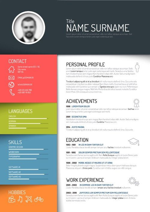 Creative resume template design vectors 05 - Vector Business free ...