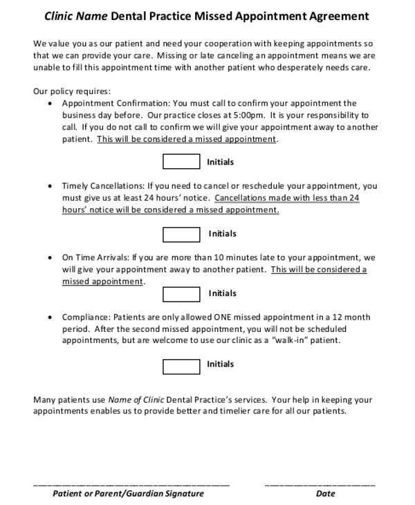 Missed Appointment Letter Template - 6+ Free Word, PDF Format ...