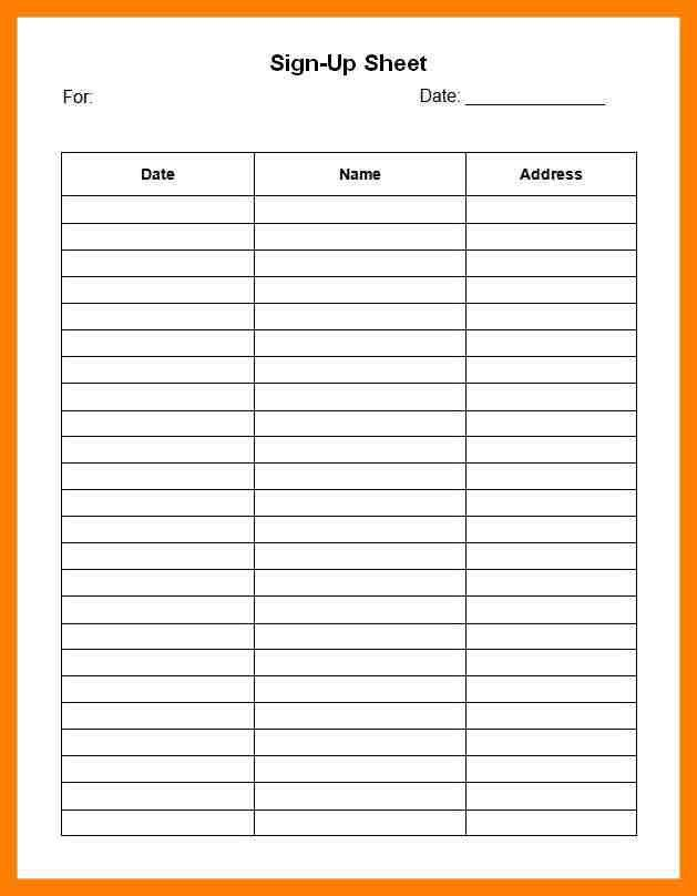 9+ sign in sheet template word | bibliography formated