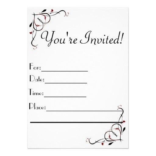 You Re Invited Template - Themesflip.Com