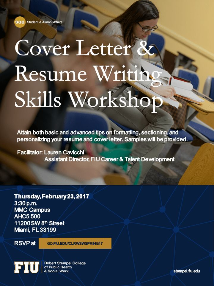 Upcoming Events | Cover Letter & Resume Writing Skills Workshop ...