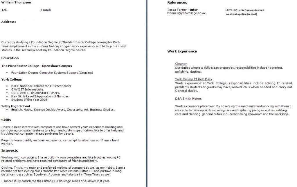 Download What To Put On A Cv Cover Letter | haadyaooverbayresort.com