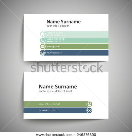 Modern Simple Business Card Template Vector Stock Vector 240379594 ...