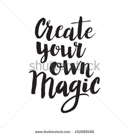 Conceptual Hand Drawn Phrase Create Your Stock Vector 452689468 ...