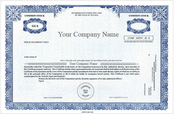 Special Order Certificates, Special Order Certificate Package