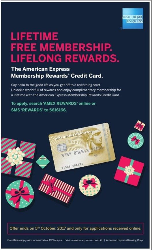 Lifetime free membership with American Express Membership Rewards ...