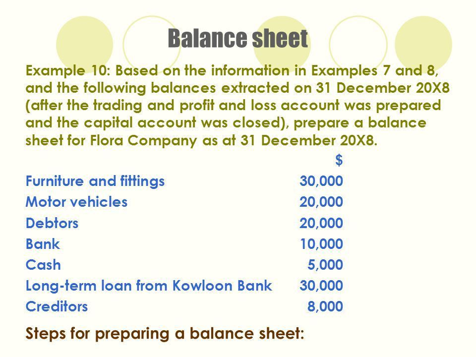 Prepare A Balance Sheet, how to prepare balance sheet from trial ...