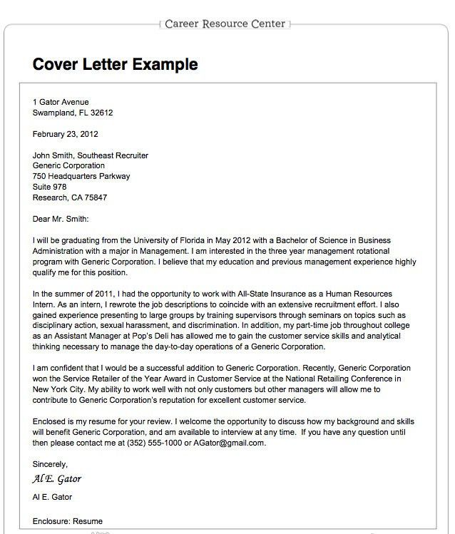 Cover letter resume in email