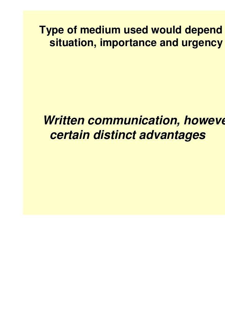 Inter office written communication