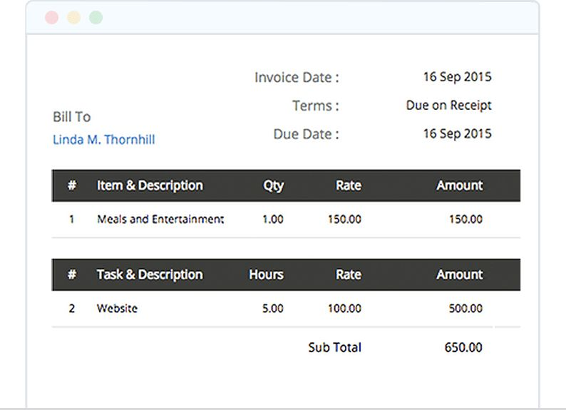 Effortlessly track with Zoho Invoice Invoicing Software.