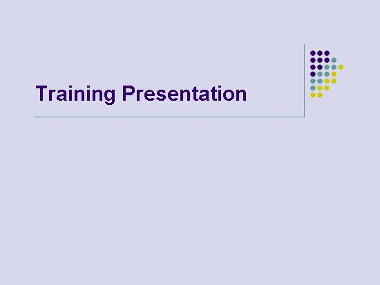 Training presentation - Office Templates