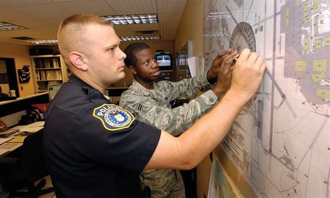 Alongside Airmen, DOD police guard Tinker, serve community ...