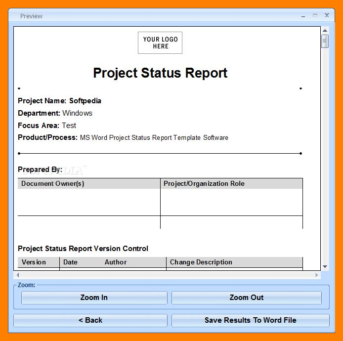 ms word report templates - Template