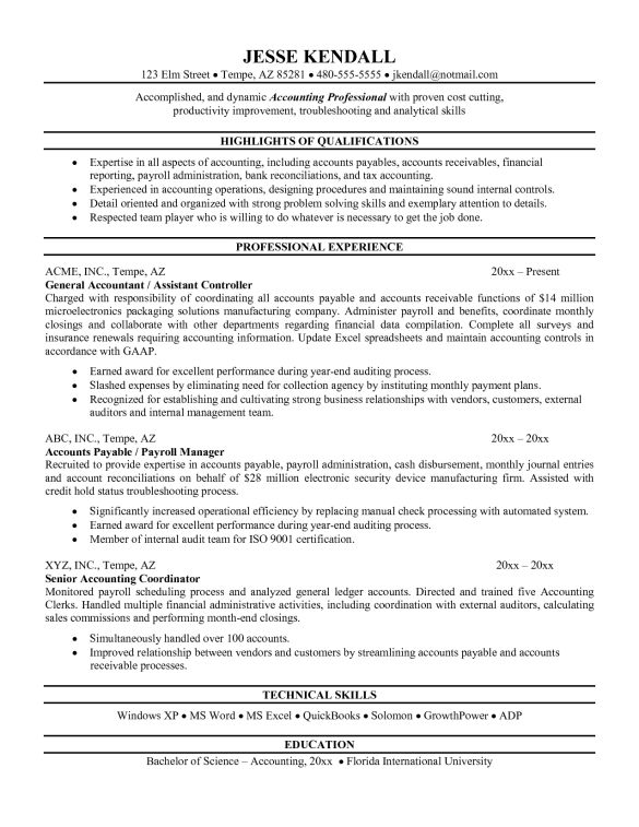 Best Cover Letter And Resume Samples For Staff Accountant Job ...