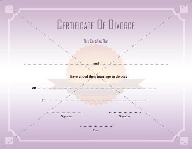 Divorce Decree Certificate Template Printable ...