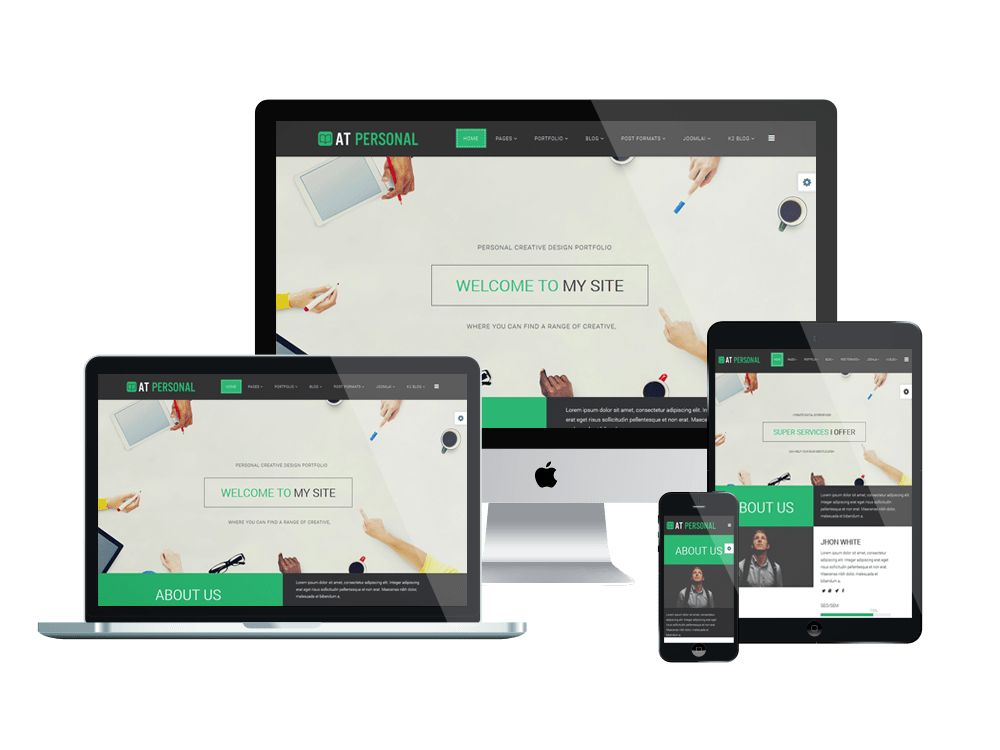 AT Personal – Free Profile / Personal Joomla Template - Age Themes